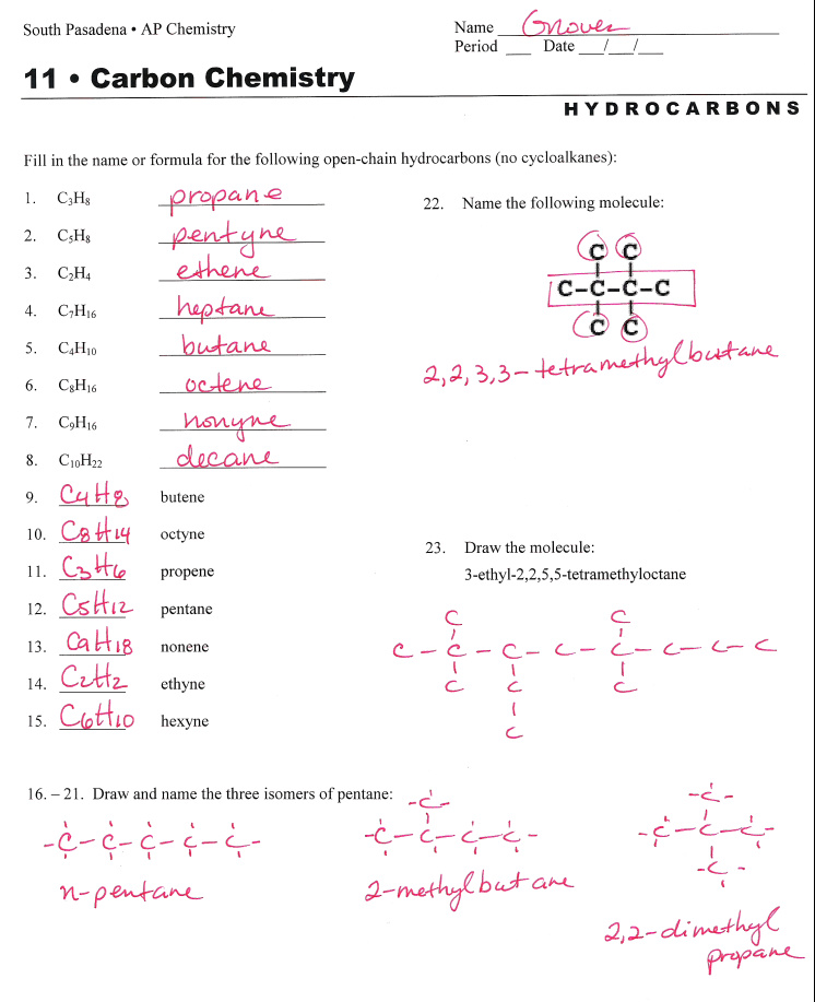 organic nomenclature worksheet and answers | Okanuwys